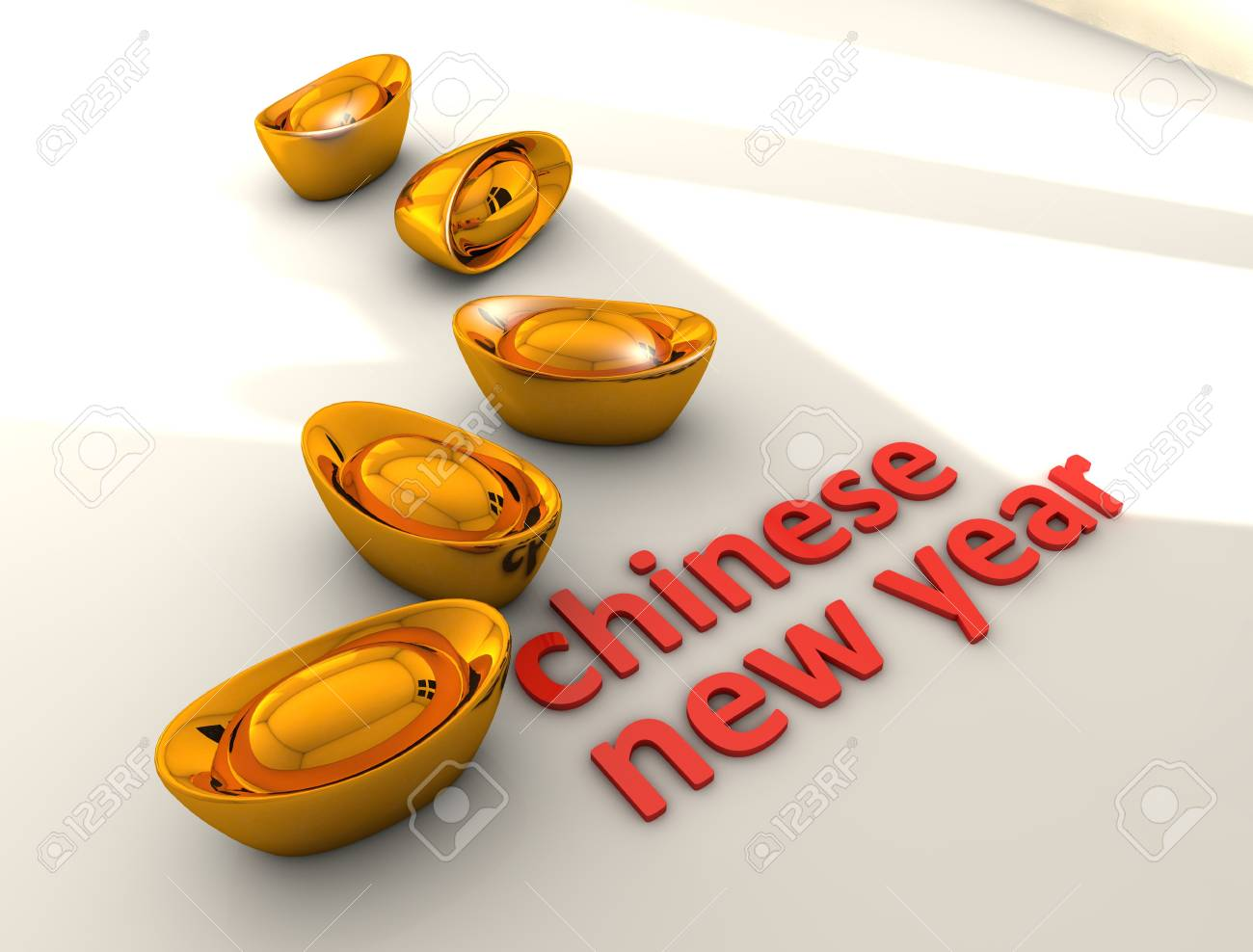 3d rendering, Chinese new year concept illustration, isolated on white. Stock Illustration - 11453959