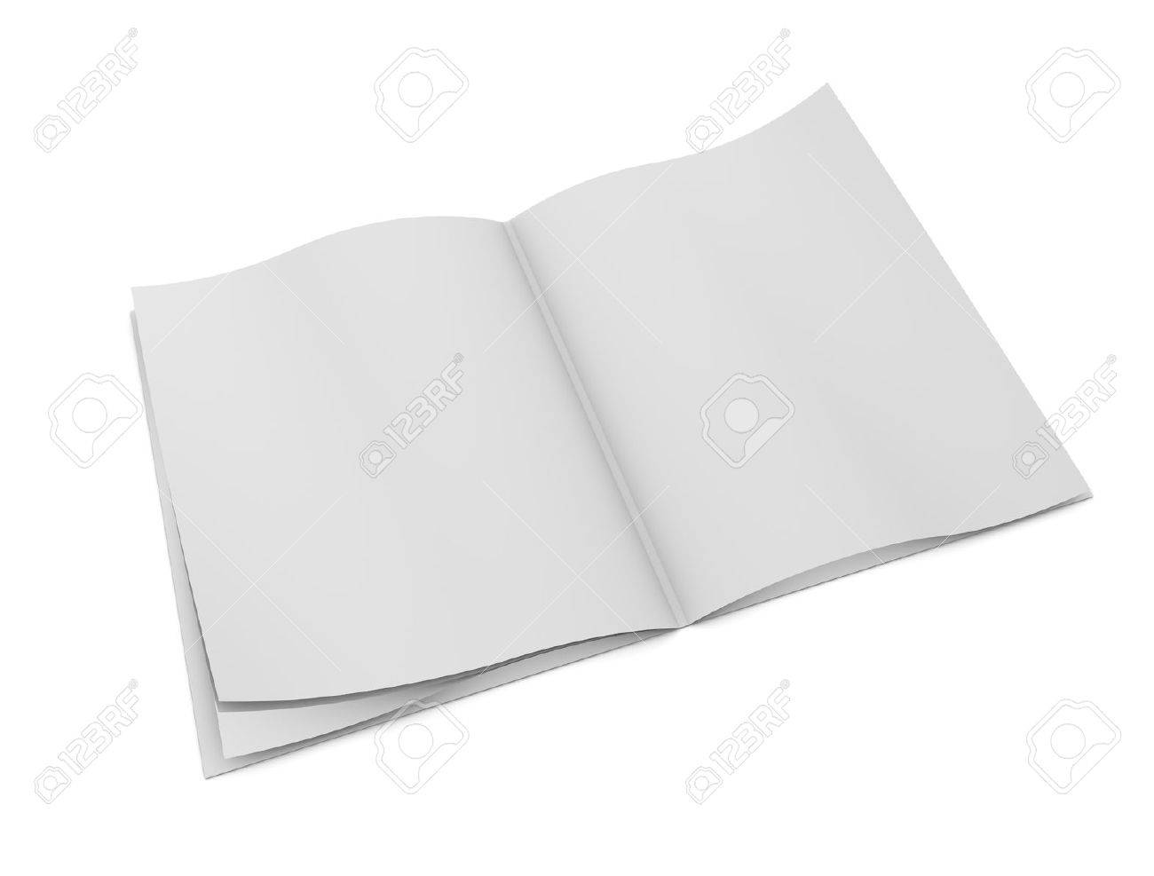 3d rendering, design element, blank book pages, isolated on white. Stock Photo - 11742590