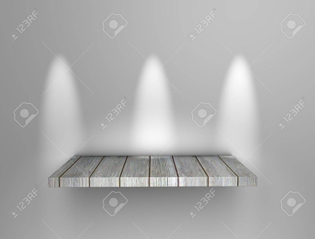 3d rendering, art display shelf, isolated background. Stock Photo - 11742599