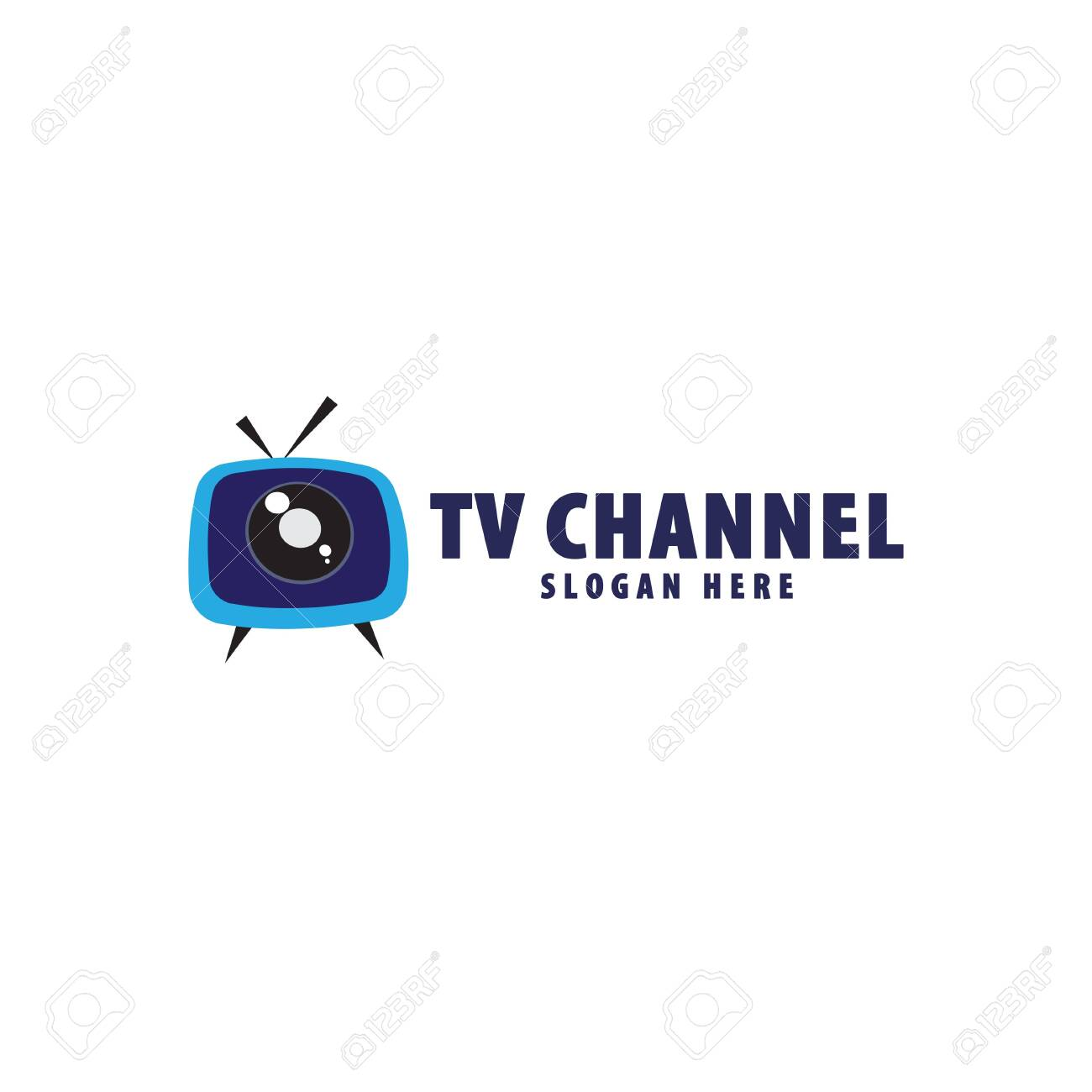 TV Live Streaming, Online Television, Web TV, Logo Concept, Without Play  Button, Blue Background, Eye Concept, TV Channel Logo Design Template  Royalty Free Cliparts, Vectors, And Stock Illustration. Image 126738114.
