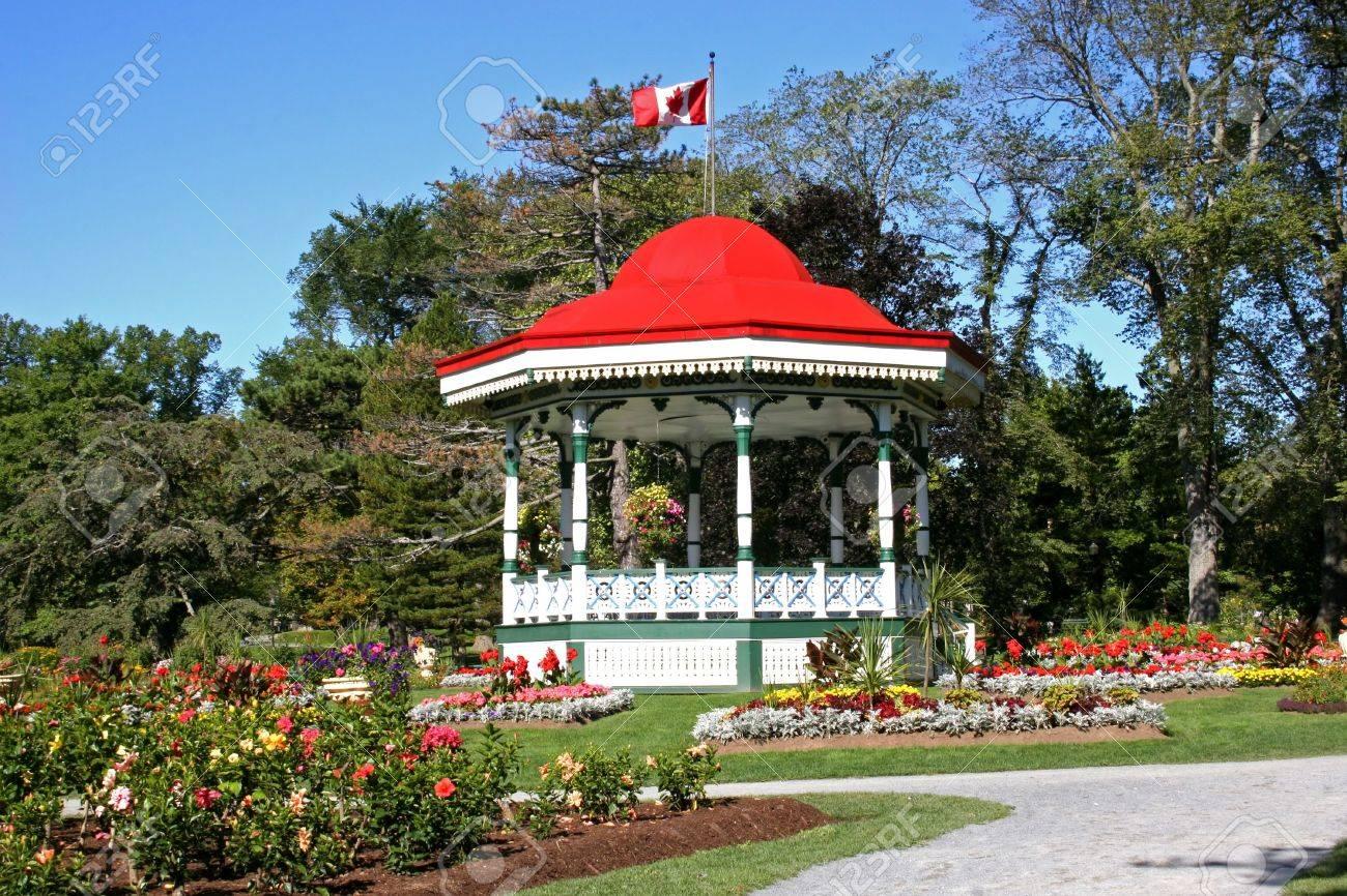 Bandstand in Halifax Public Gardens, Nova Scotia. - 3279809