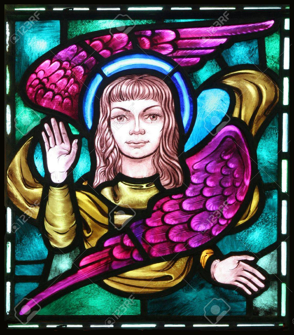 The winged man is the evangelical symbol of st matthew from the winged man is the evangelical symbol of st matthew from an old stained biocorpaavc