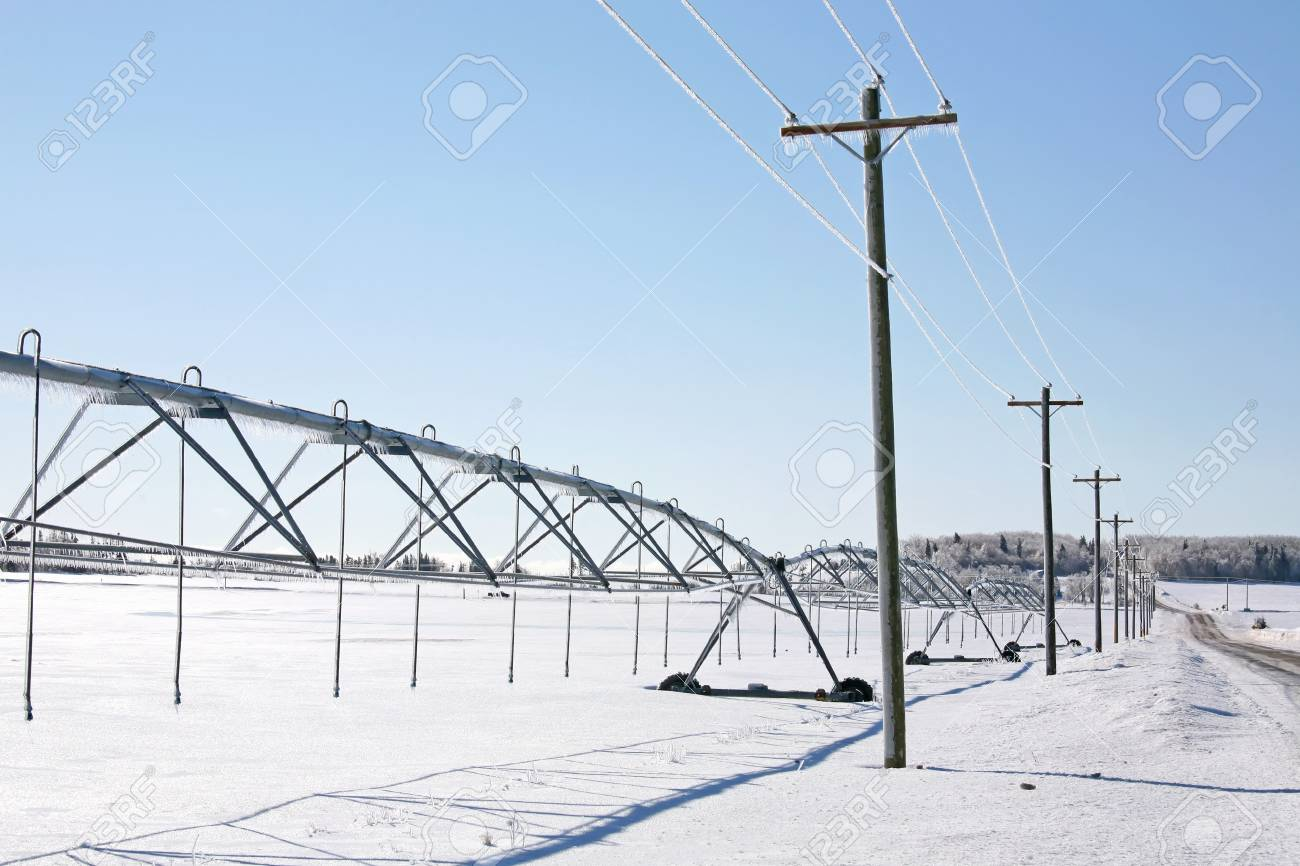 Modern irrigation system in the rural landscape. Stock Photo - 10798074