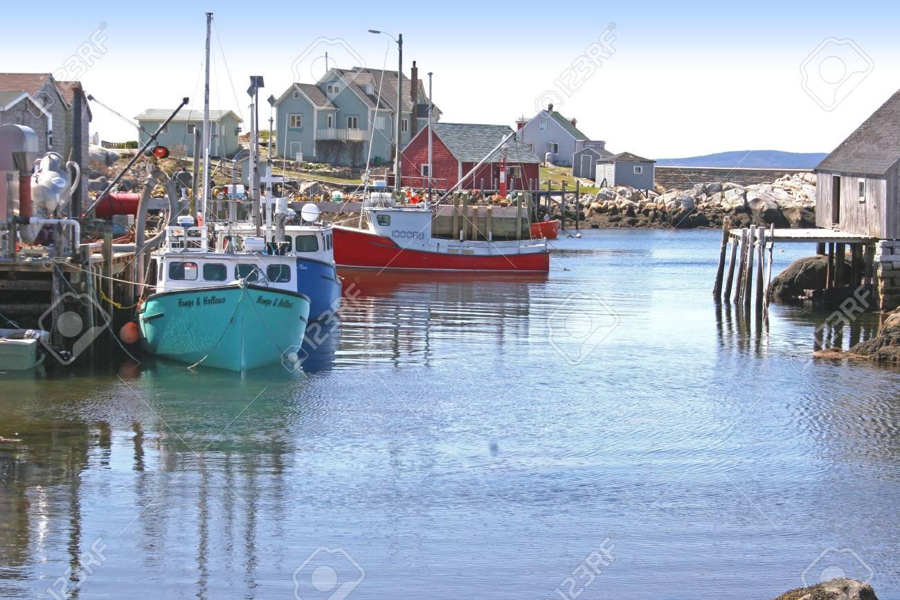 Nova Scotia fishing village. Stock Photo - 11868336