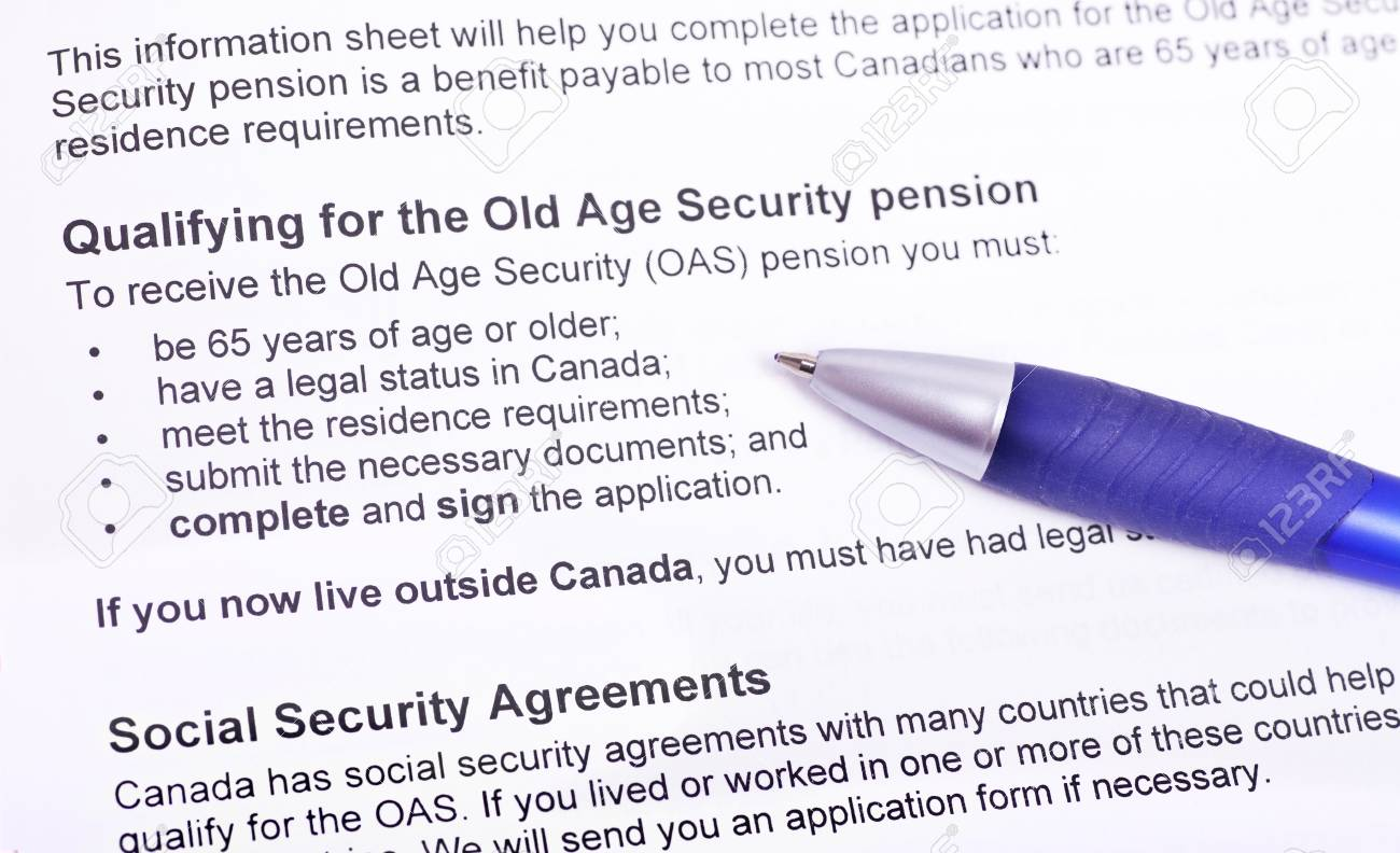 Info to qualify for the old age pension Canada - 12728590