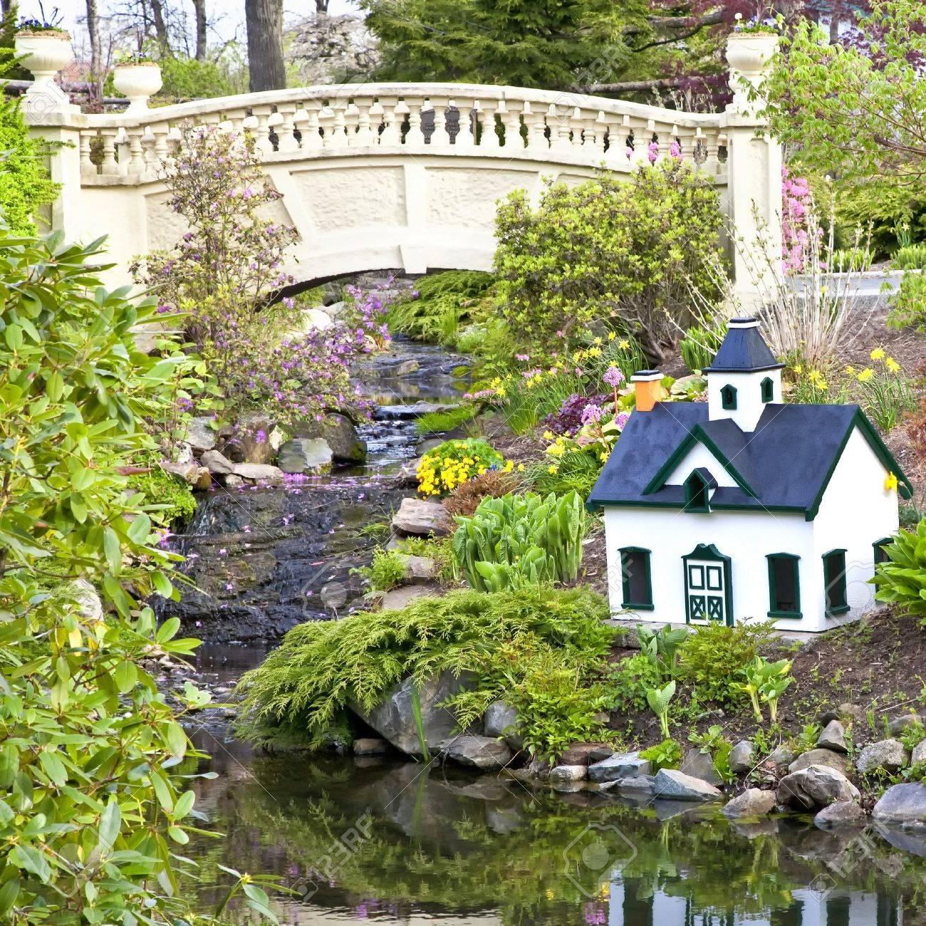 Ein öffentlicher Garten In Halifax Nova Scotia Mit Einem Kleinen