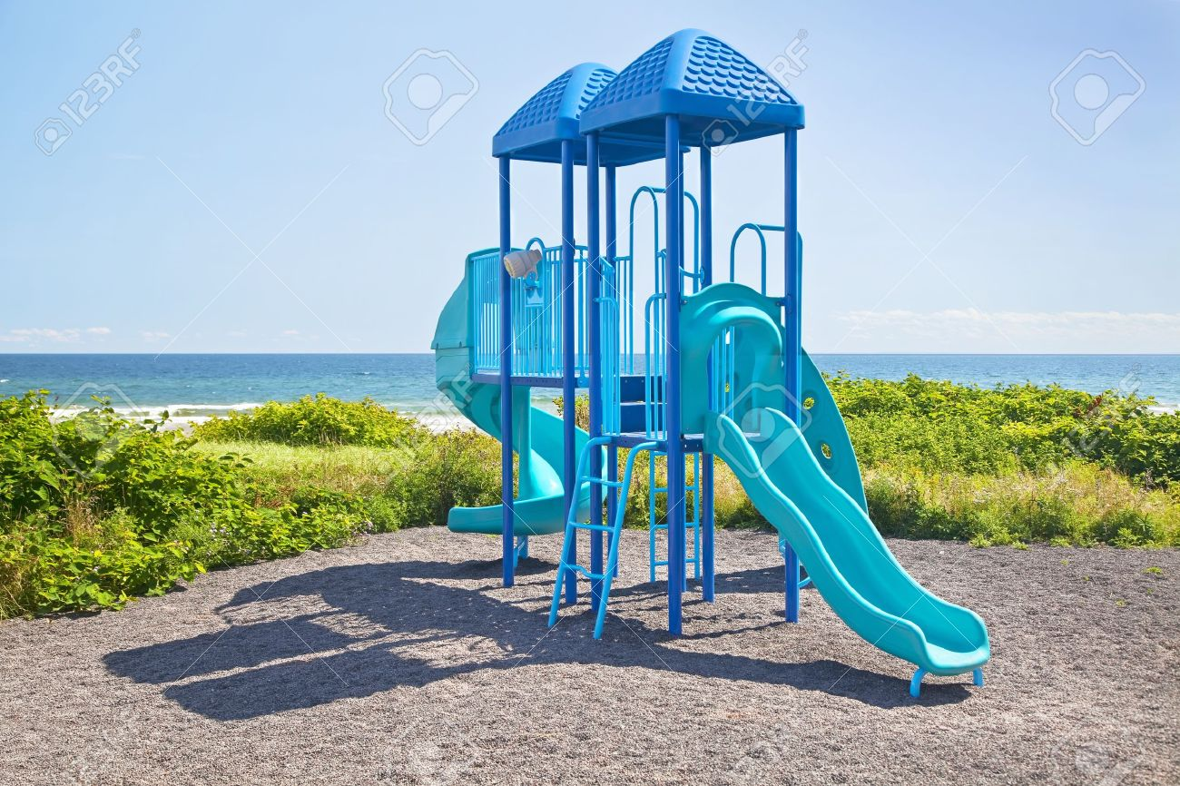 Jungle Gym Playground by the ocean. Stock Photo - 13383322