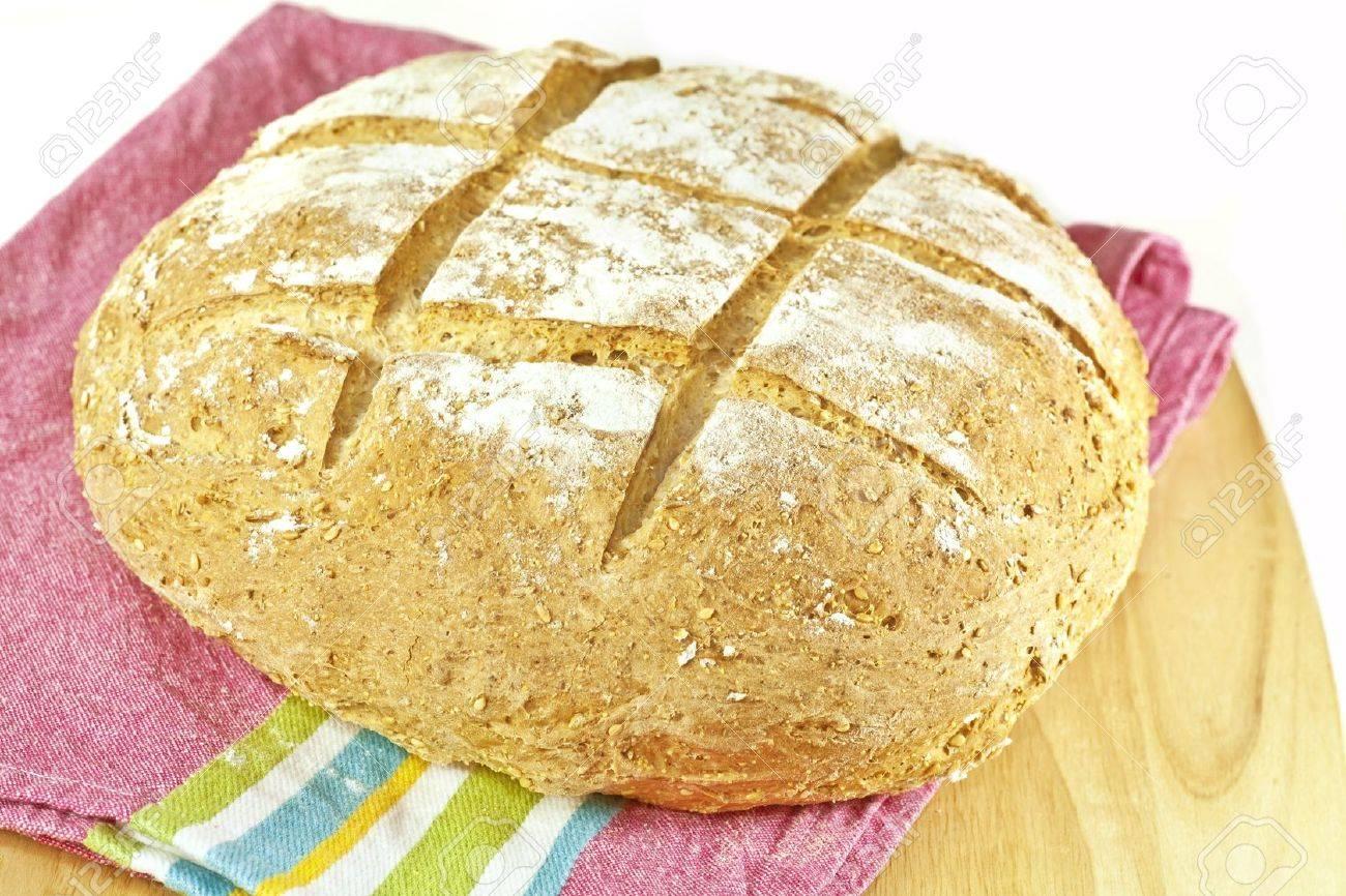 A round loaf of homemade Irish soda bread. Stock Photo - 14238716