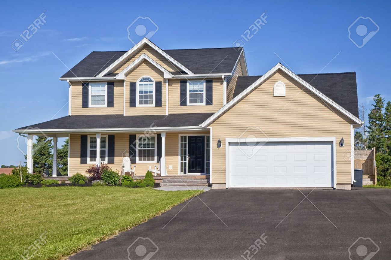 Large family home in a rural area. Stock Photo - 17326417