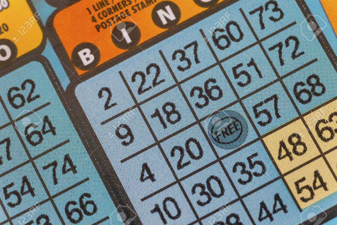 Detail of a bingo lottery scratch ticket. Stock Photo - 27305747