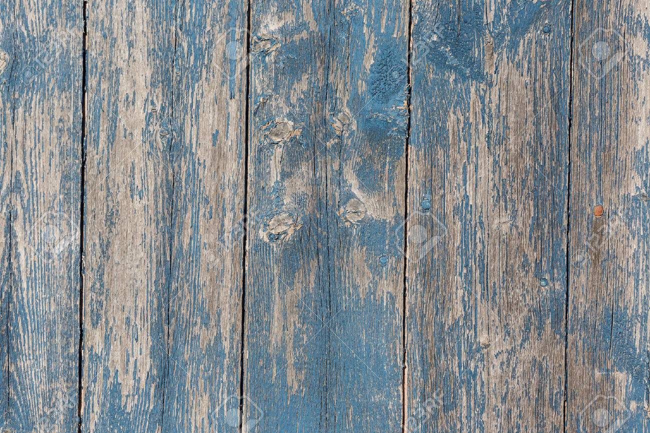 Old wooden barn board with distressed blue paint. Stock Photo - 44094534