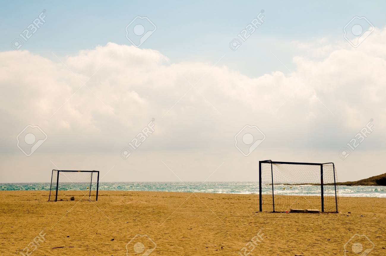 Beach football in Spain. Stock Photo - 4043060