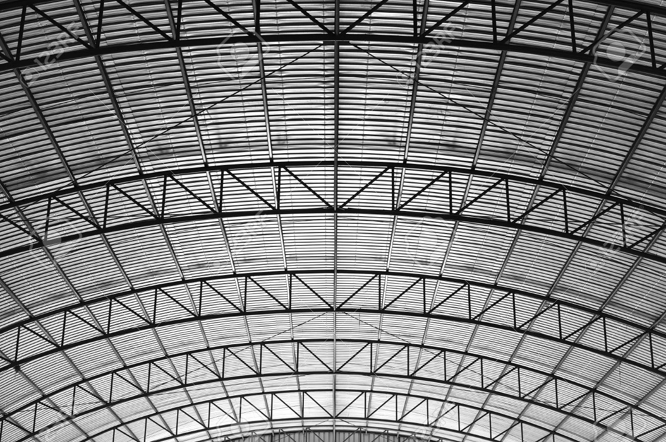 Curved Truss High Roof Suppot Within A Warehouse Stock Photo Picture And Royalty Free Image Image 16912695