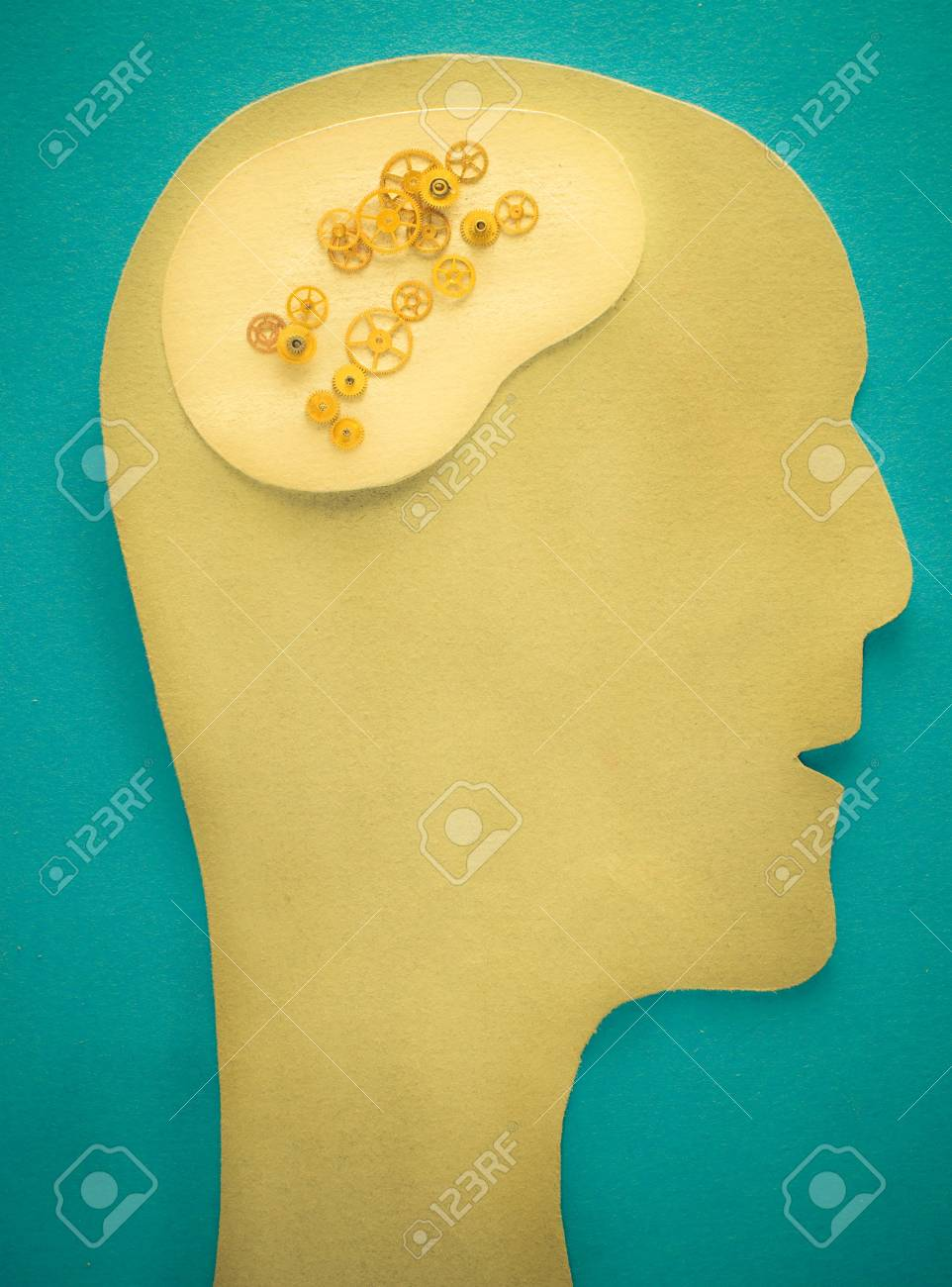 a human head with gears Stock Photo - 6049318