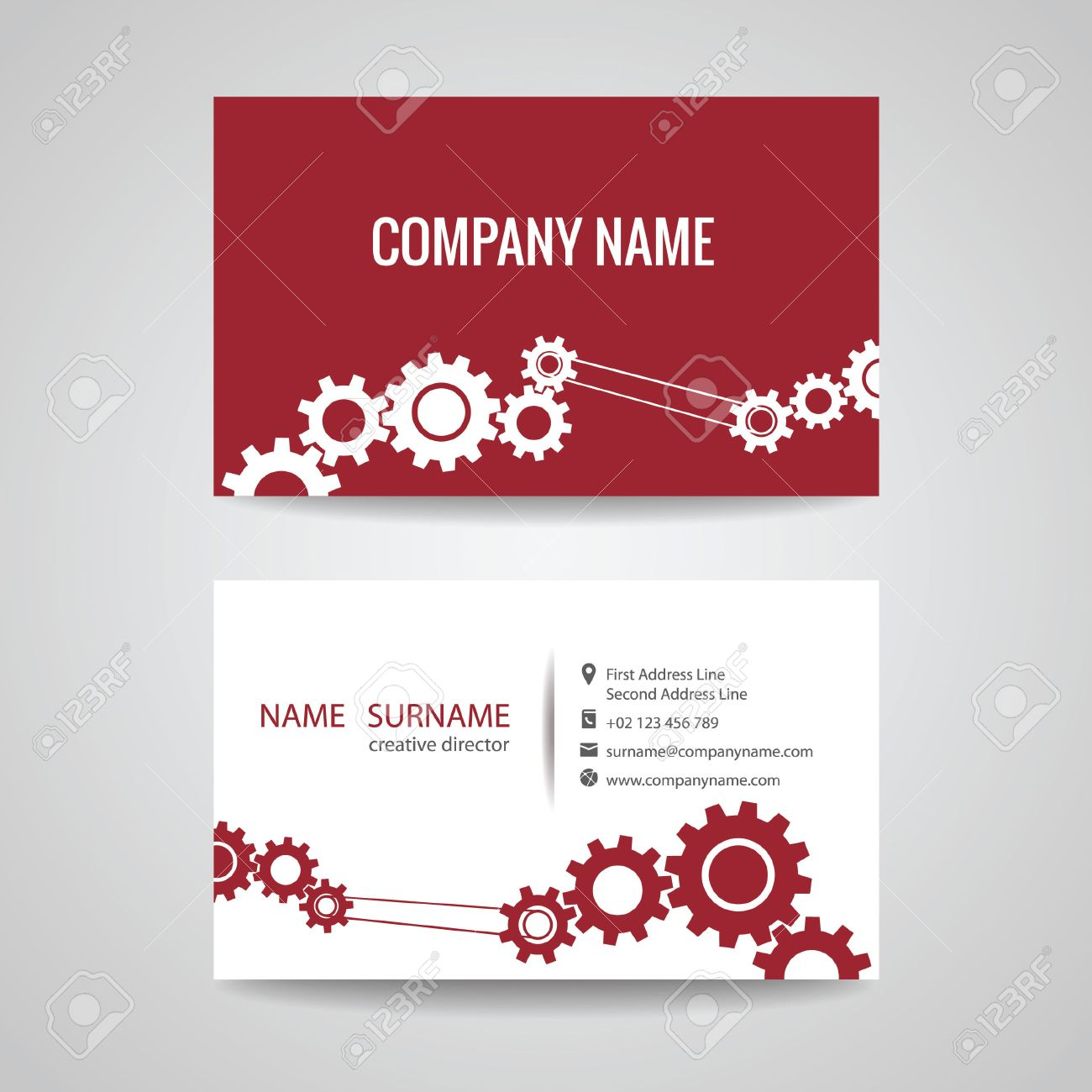 Business Card For Engineer And Mechanical Royalty Free Cliparts ...