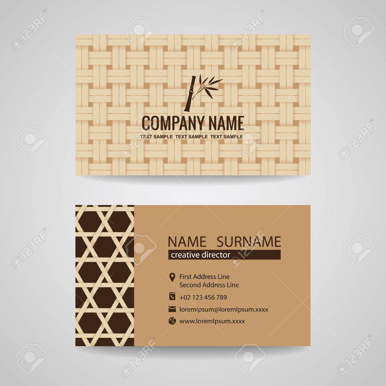 Business card brown bamboo weave sheets texture background royalty business card brown bamboo weave sheets texture background stock vector 41018846 colourmoves