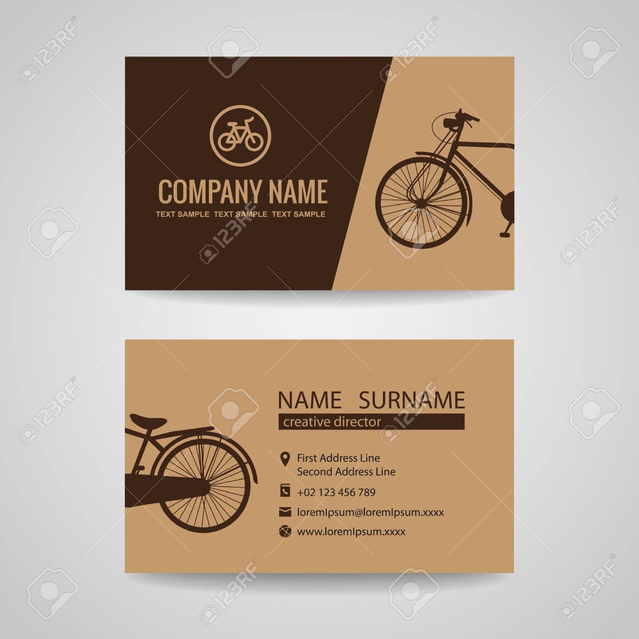 Business Card For Old Vintage Bicycle Shop Or About The Bike Royalty ...