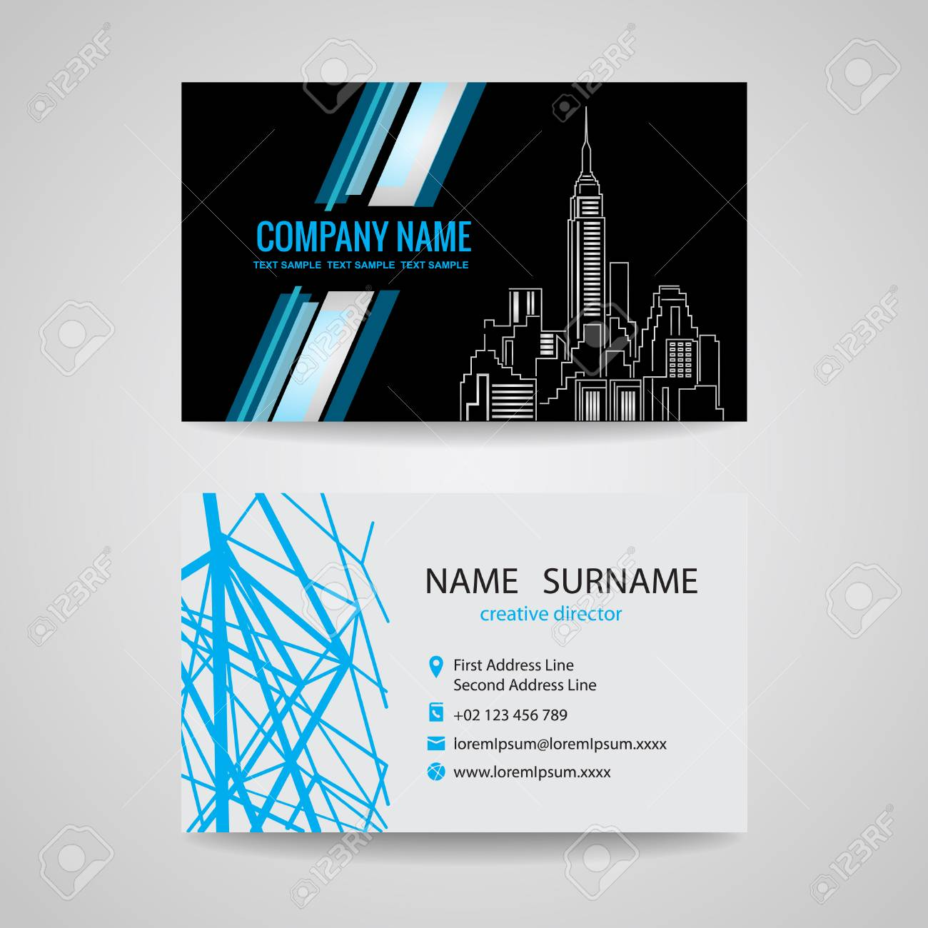 Business card design for about structure building royalty free business card design for about structure building stock vector 41847993 reheart Images