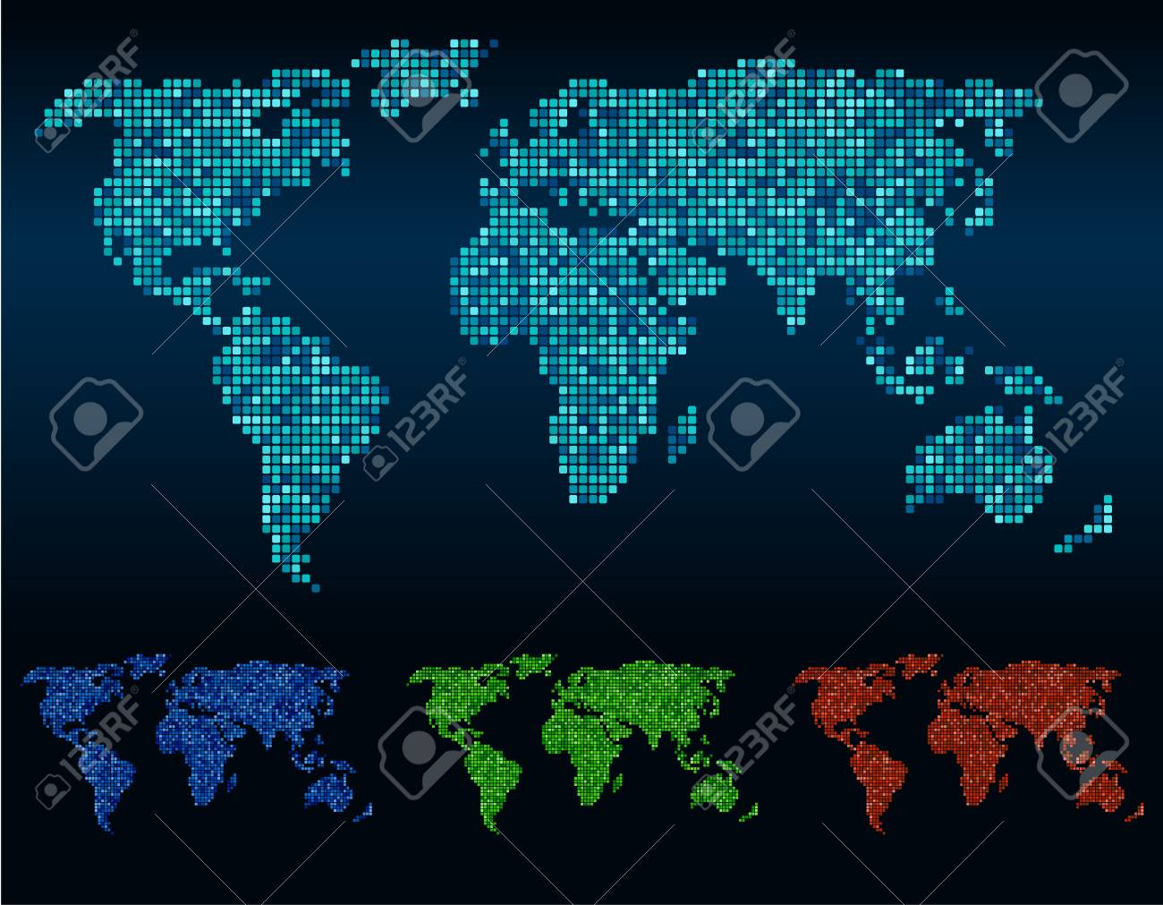 Abstract square corners world map vector 4 tone color royalty free abstract square corners world map vector 4 tone color stock vector 42116424 gumiabroncs Images