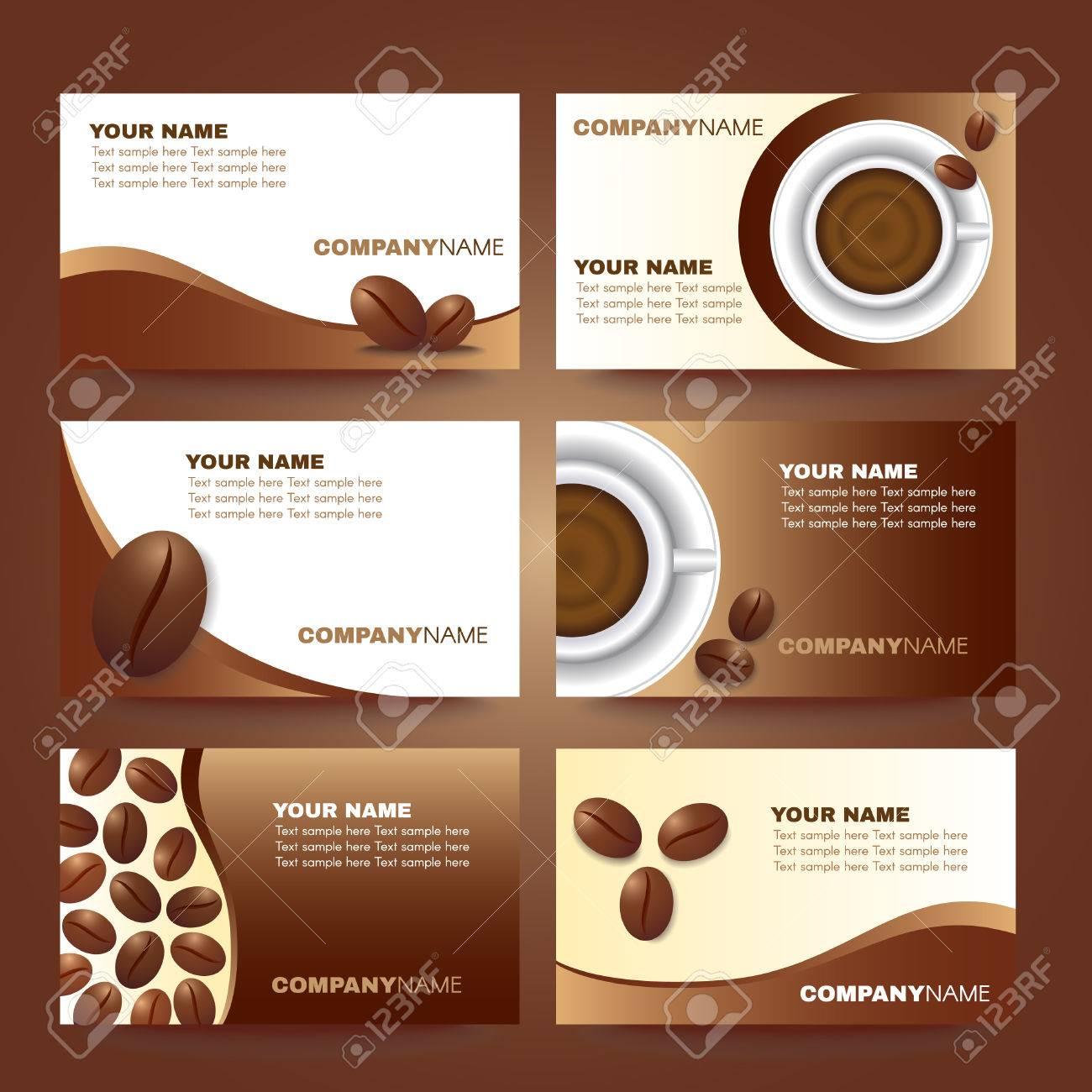 Cafe Carte De Visite Vecteur Modele Scenographie Clip Art Libres