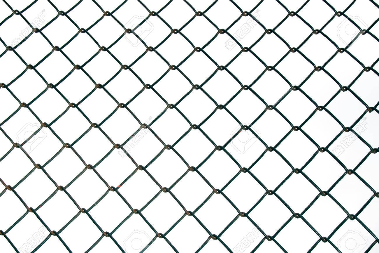 Steel Wire Mesh Isolate On White Background Stock Photo, Picture And ...