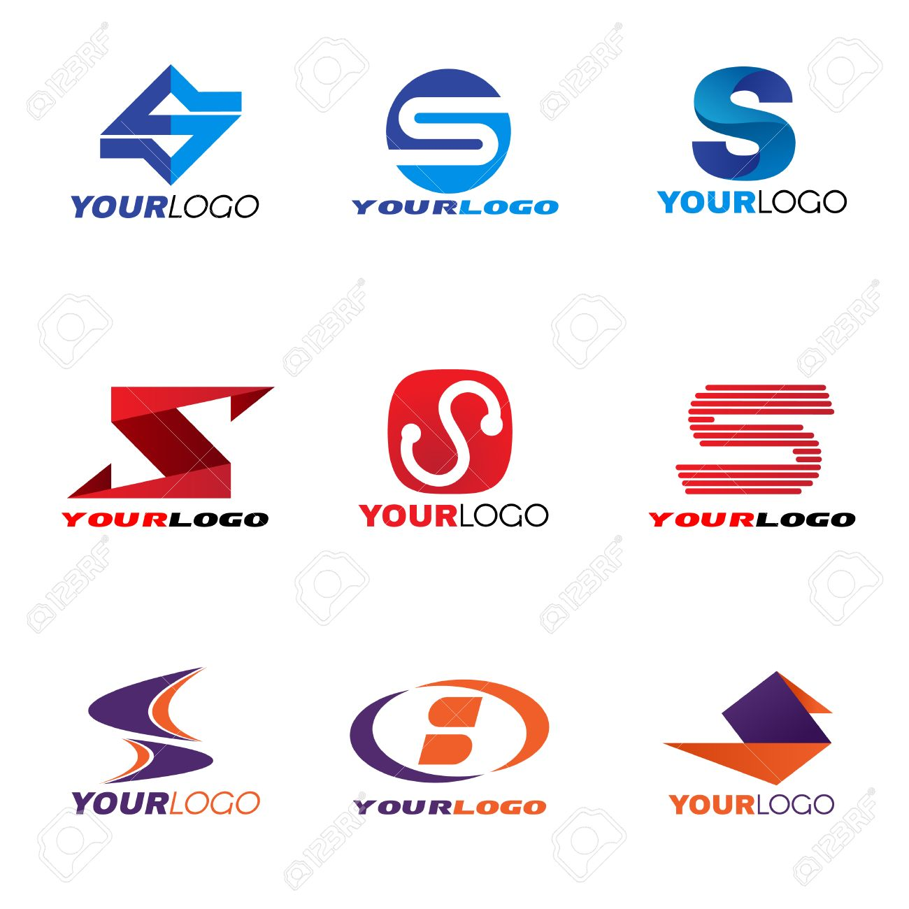 letter s logo vector set design royalty free cliparts vectors and