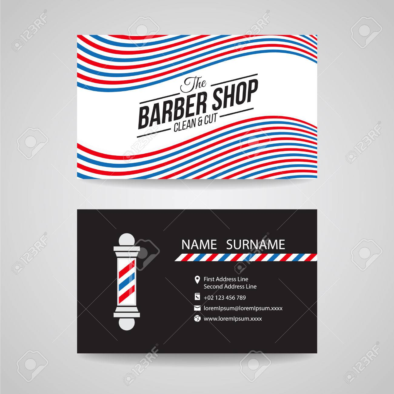 Barber Shop Business Card Templates Images Templates Example - Barber business card template
