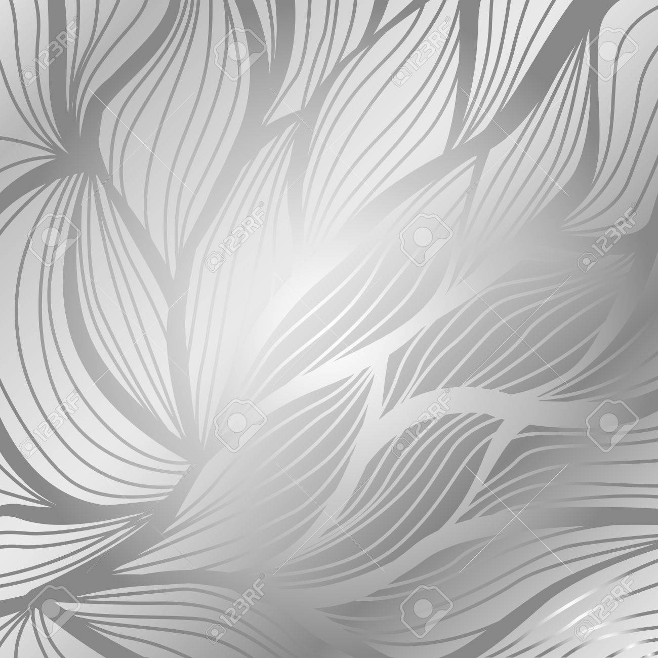 Luxury silver vintage floral vector abstract background - 52220129