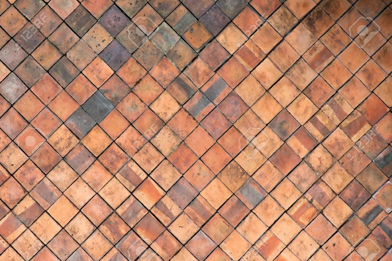 Terrakotta Fliesen Wand Fur Abstrakte Textur Hintergrund Lizenzfreie