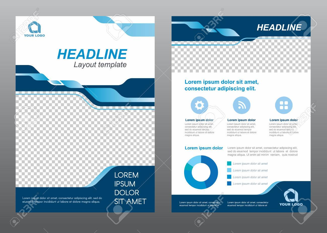 Layout flyer template size a4 cover page blue tone vector design layout flyer template size a4 cover page blue tone vector design stock vector 58012243 saigontimesfo