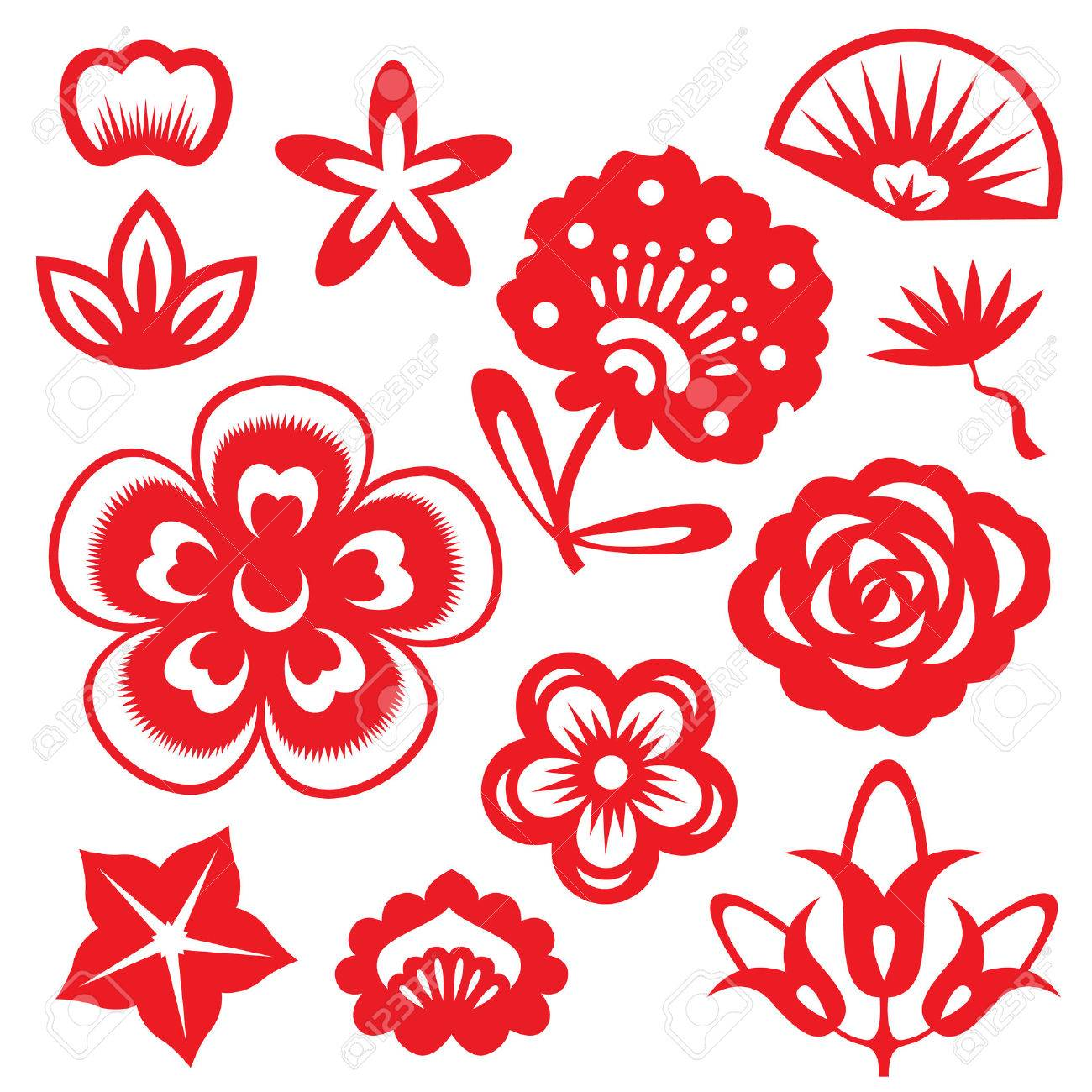 Chinese paper cutting flowers image collections fresh lotus flowers chinese paper cut flower basket stock image image of facebook mightylinksfo
