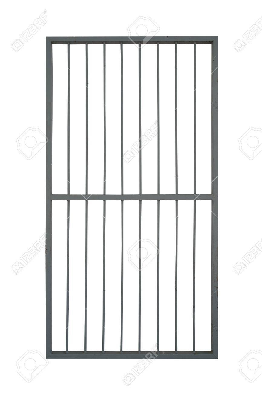 Extrem Tür Eisen Käfig Isolieren Auf Weißem Hintergrund Lizenzfreie Fotos UY34