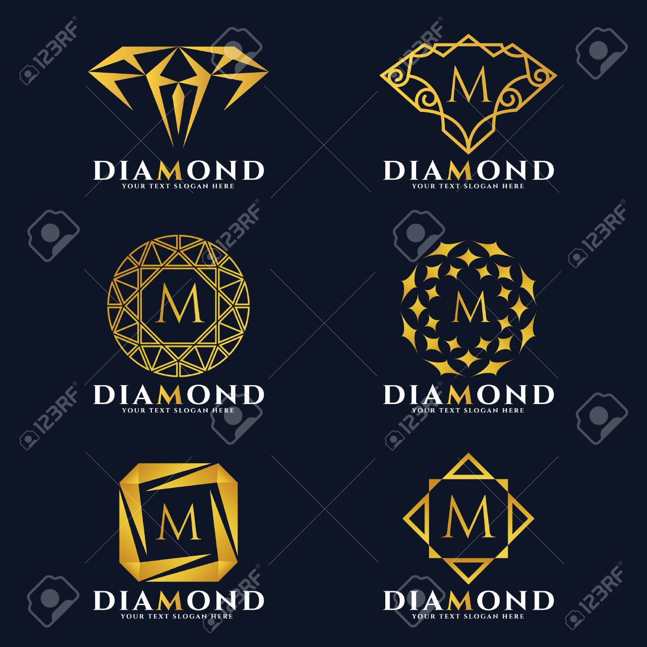 logo colourbox vector stock diamond
