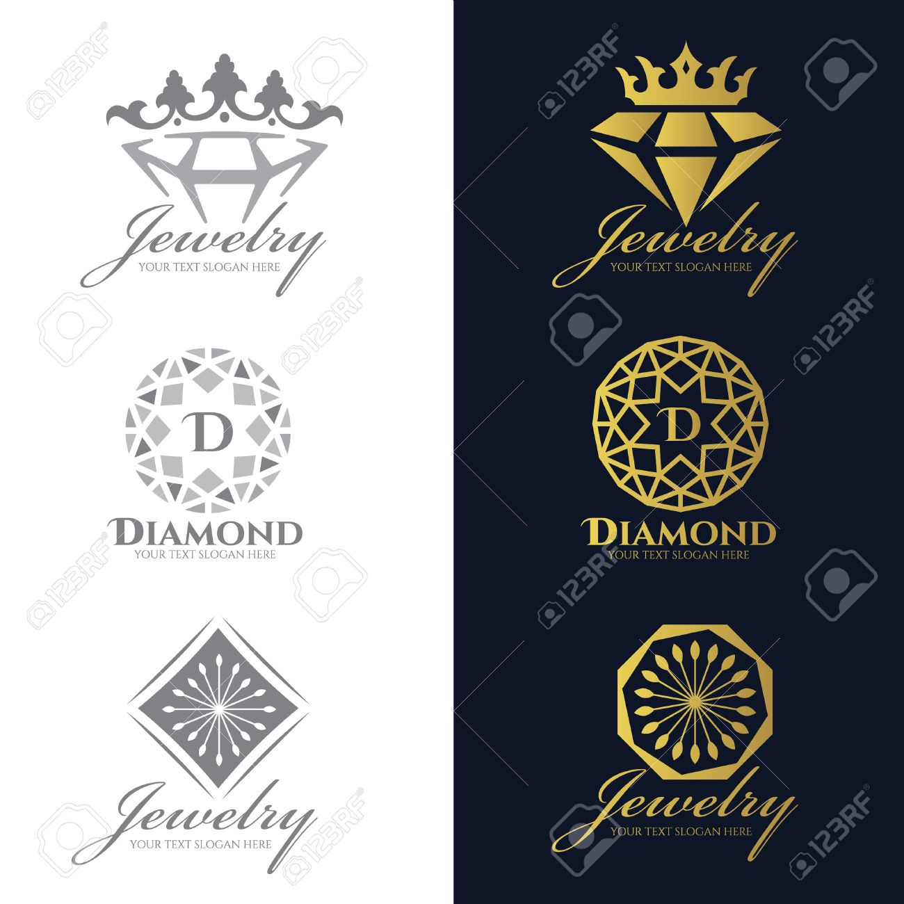 vector royalty diamond image logo template free