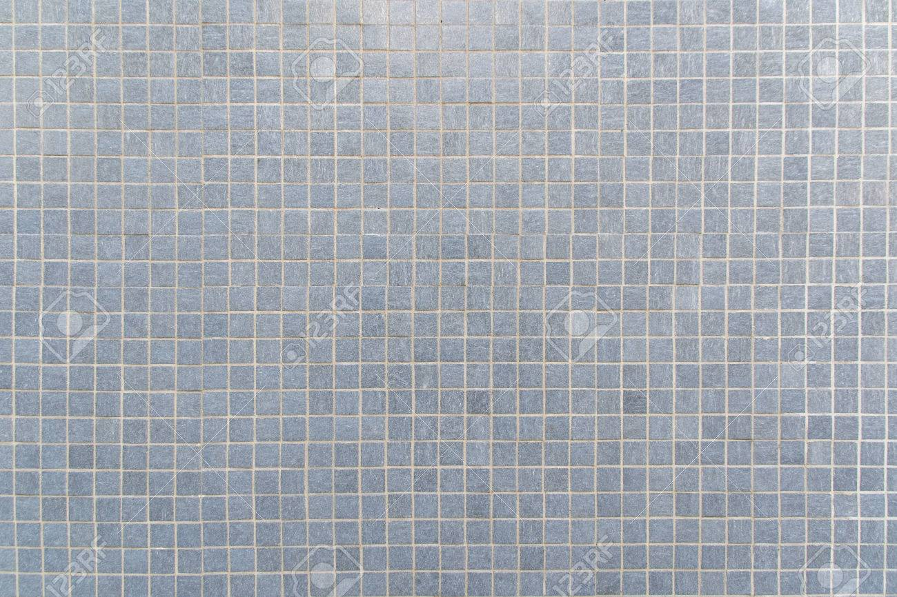 Blue Gray Mosaic Floor Tile For Texture Background Stock Photo ...