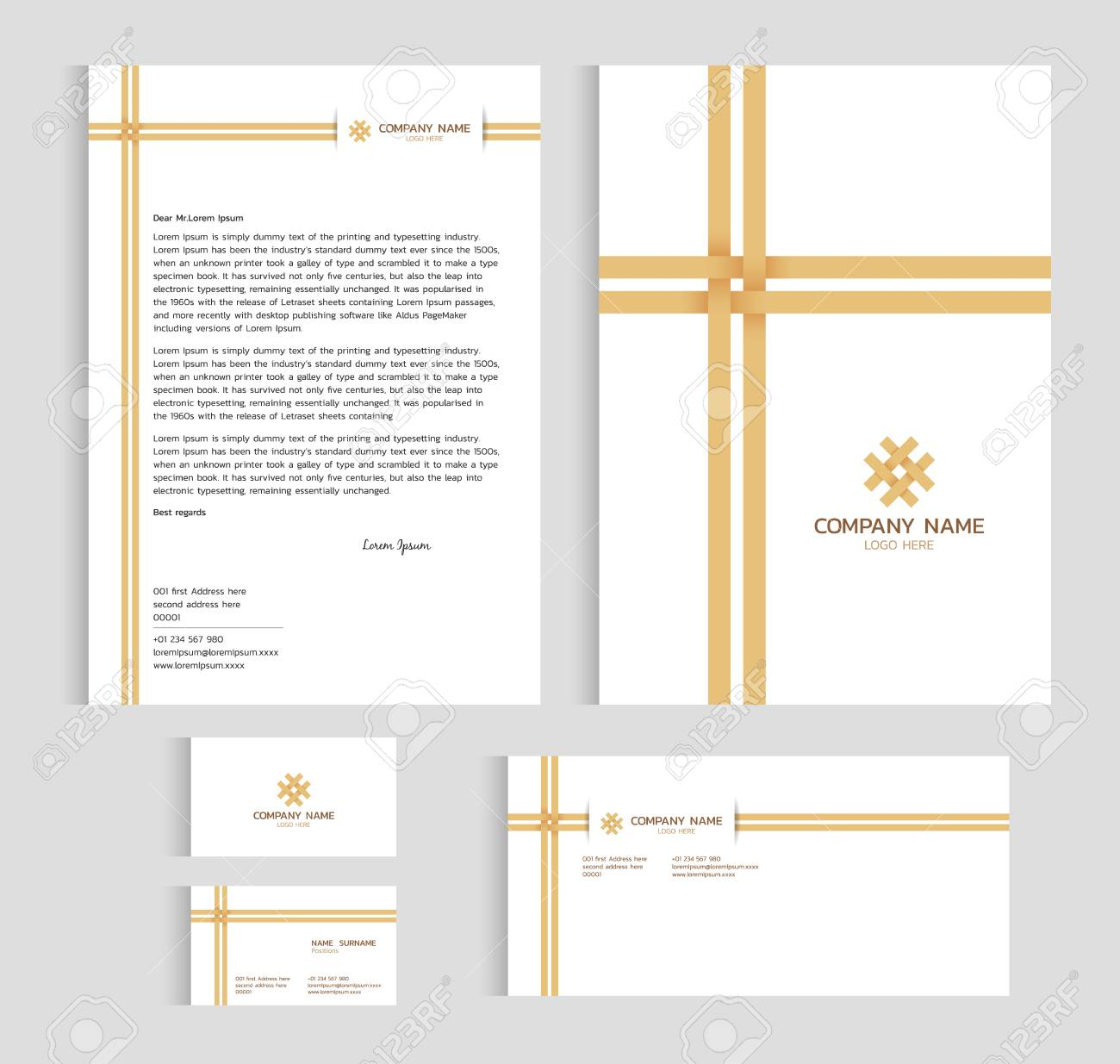 Layout template size a4 cover page business card and letter layout template size a4 cover page business card and letter bamboo weaving cross vector friedricerecipe Image collections
