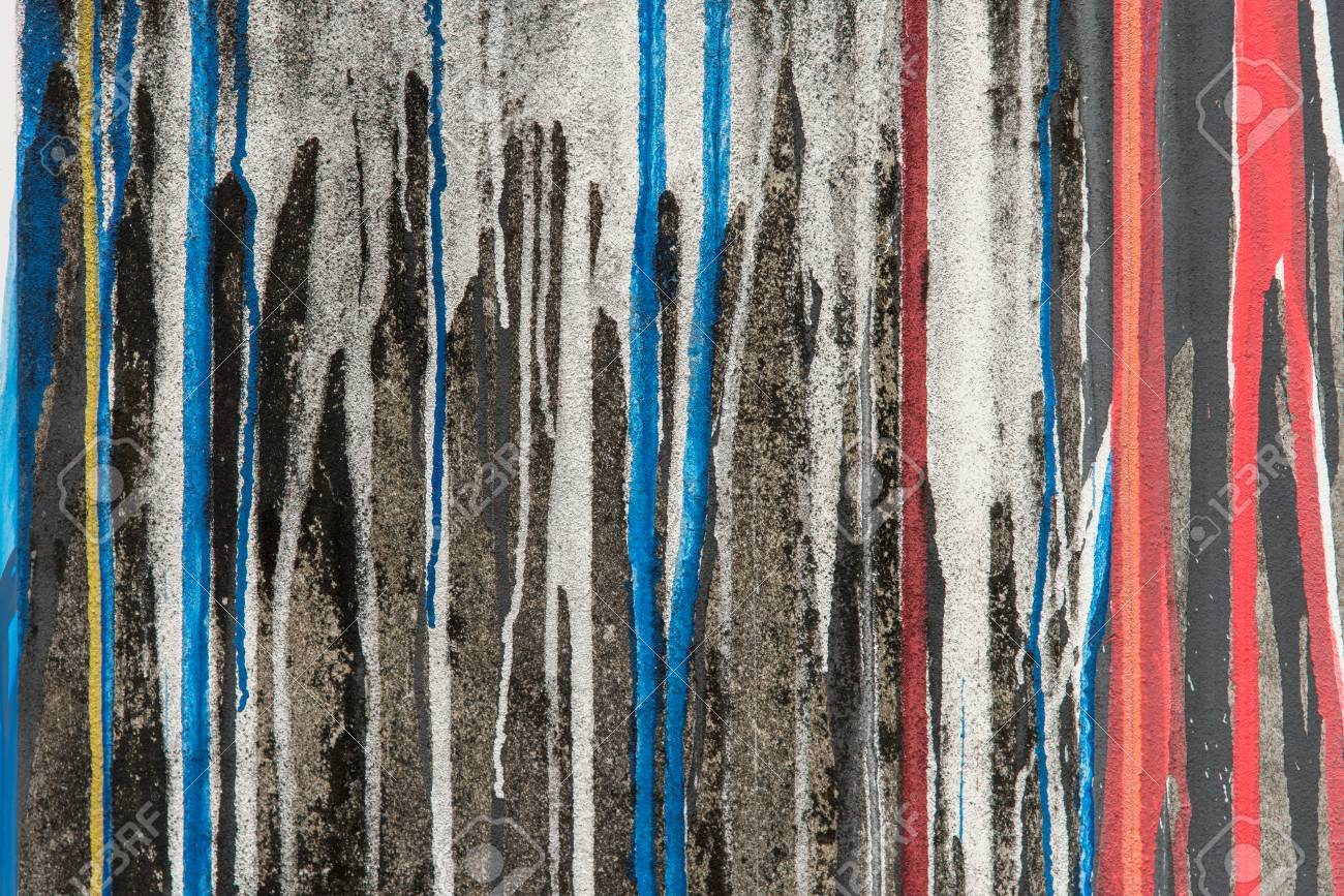 abstract red and blue color paint flow down on black wall stock rh 123rf com