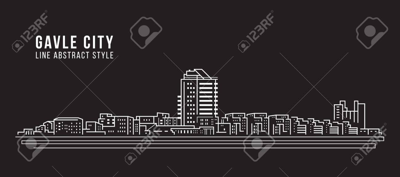 Cityscape Building Line art - 128690966