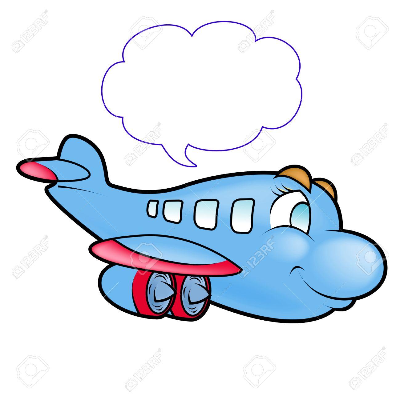 かわいい飛行機のイラスト の写真素材画像素材 Image 4329444