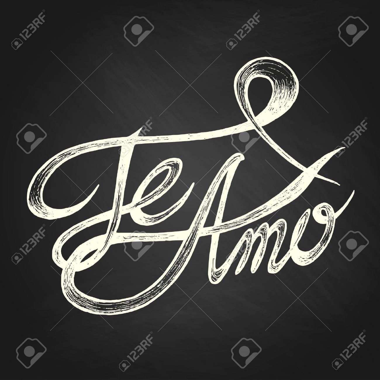 Stock illustration 3d red text quot yes quot stock illustration royalty - Te Amo I Love You Hand Drawn Quotes White On Blackboard Stock Vector