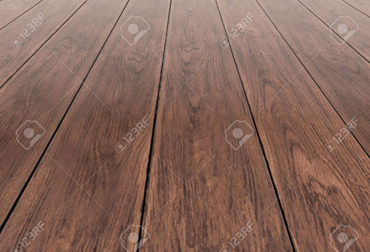 dark wood floor perspective. dark beige wood background perspective view wooden floor with thick desks illustration render stock o