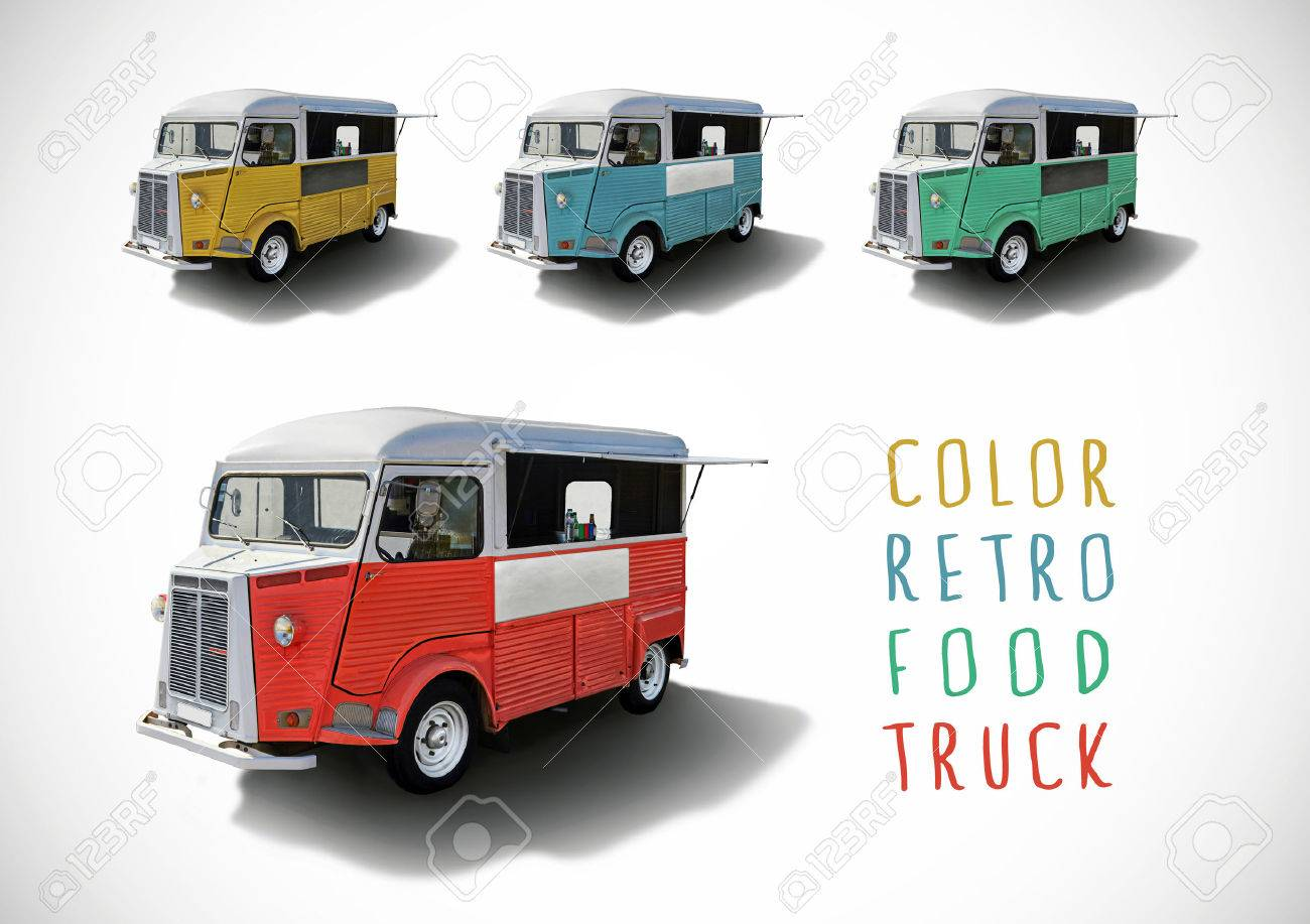 25 of the best food truck designs design galleries paste - Food Truck Set Of Color Retro Food Trucks With Cutting Path Stock Photo