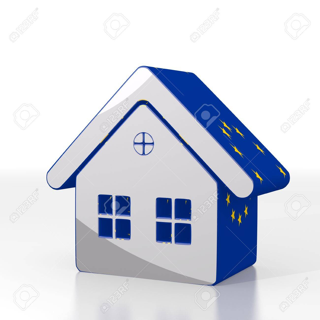 House pictures europe flag