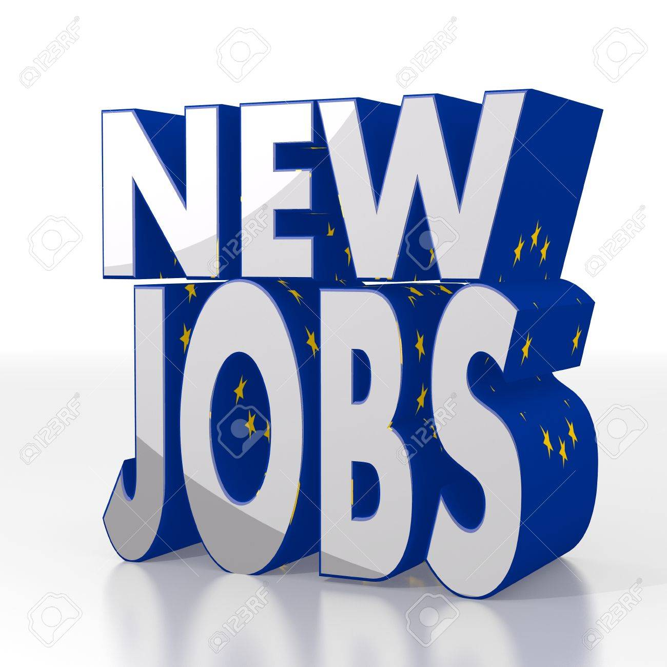 silver european europe d graphic isolated new jobs sign silver european europe 3d graphic isolated new jobs sign eu flag pattern stock photo