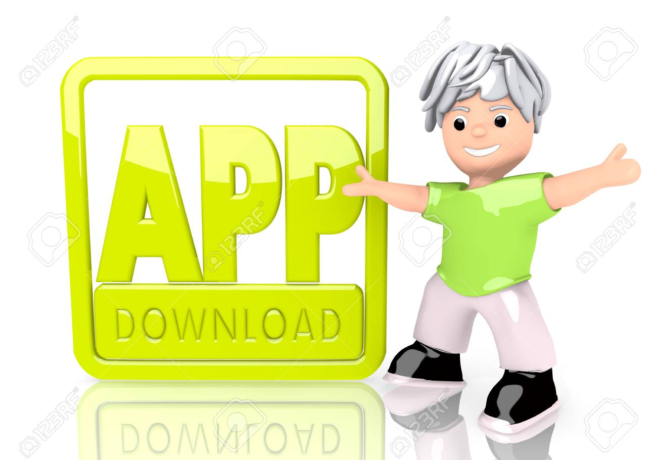 limerick funny software 3d graphic with happy app download sign