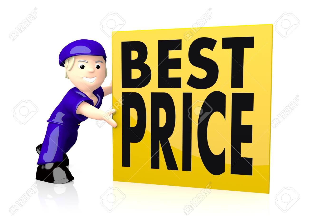 La Boite Jaune Prix graphique 3d avec une belle icône meilleur prix sur boîte postale jaune