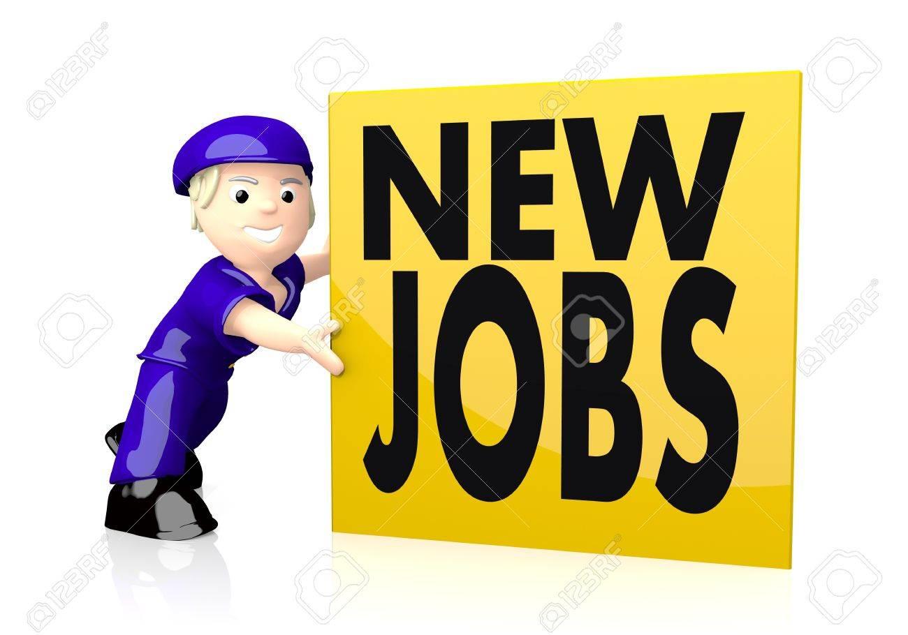 d graphic cute new jobs symbol on yellow post box stock 3d graphic cute new jobs symbol on yellow post box stock photo 21143964