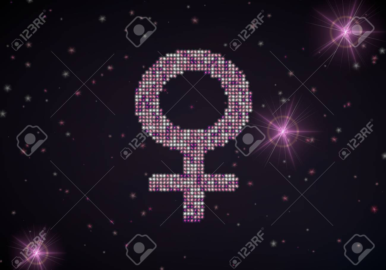 Black  female light 3d graphic with glowing woman symbol of glamour stars Stock Photo - 22589892
