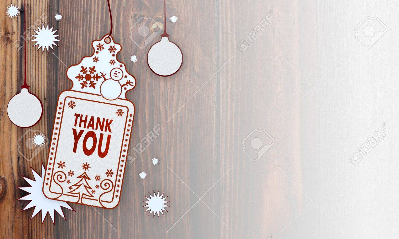 Decorative Illustration Of A Christmas Card With Thank You Sign ...