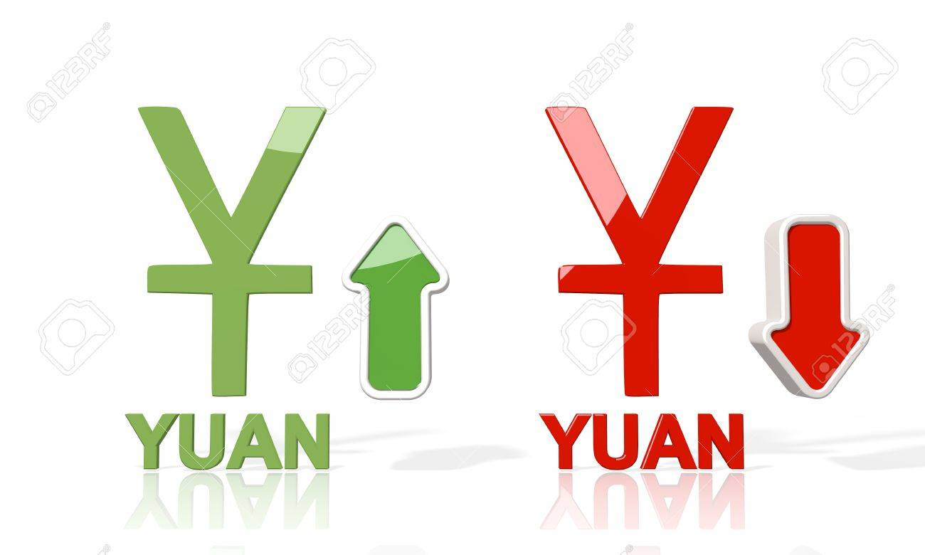 3d icon of china yuan renminbi symbol with up and down stock 3d icon of china yuan renminbi symbol with up and down stock market forex trend arrows biocorpaavc Gallery